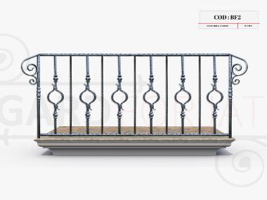 Model balustrada fier forjat bf2