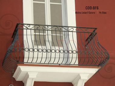 Model balustrada fier forjat bf6