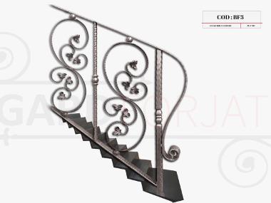 Model balustrada fier forjat bf3
